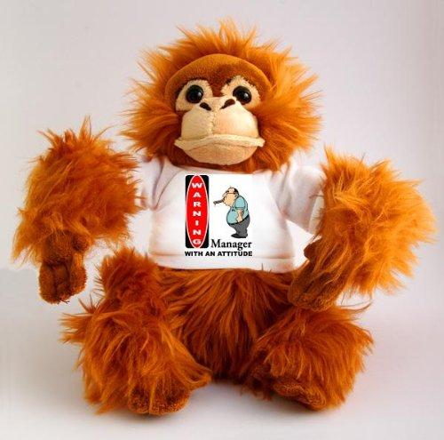 plush-monkey-orangutan-toy-with-warning-manager-with-attitude-t-shirt