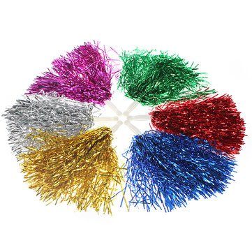 Metallic Cheerleader Poms Dance Party Welcome Costume Streamer^. (Yellow And Purple Streamers compare prices)