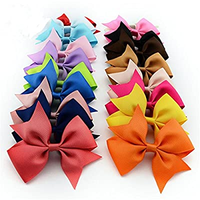 Bzybel Baby Girl Boutique Hair Bows Alligator Clips Grosgrain Ribbon Bows for Teens Baby Girls Babies Toddlers Barrettes