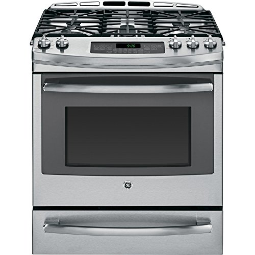 "Ge P2S920Sefss Profile 30"" Stainless Steel Dual Fuel Slide-In Sealed Burner Range - Convection"