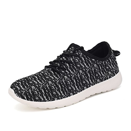 JARLIF Women's Canvas Go Easy Walking Sneakers - Breathable Comfortable Casual Running Shoes Black US10