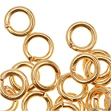 buy 22K Gold Plated Open 5Mm Jump Rings 18 Gauge (50)