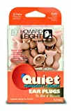 Howard Leight R-01683 Quiet Reusable No-Roll Earplugs, 6 packs (60 Pair Total)
