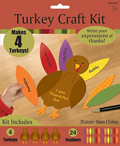 Turkey Gratitude Activity Craft Kit - 28 Pieces - 1