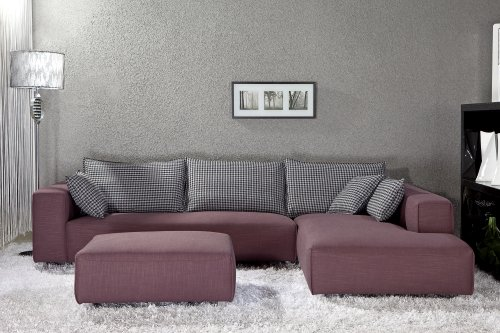 EXCLUSIVE MODERN FURNITURE EDITION #17: Bennetti Modern Sectional Sofa Milano +Ottoman