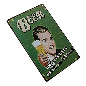 Beer Tin Sign Vintage Metal Plaque Poster Bar Pub Home Wall Decor