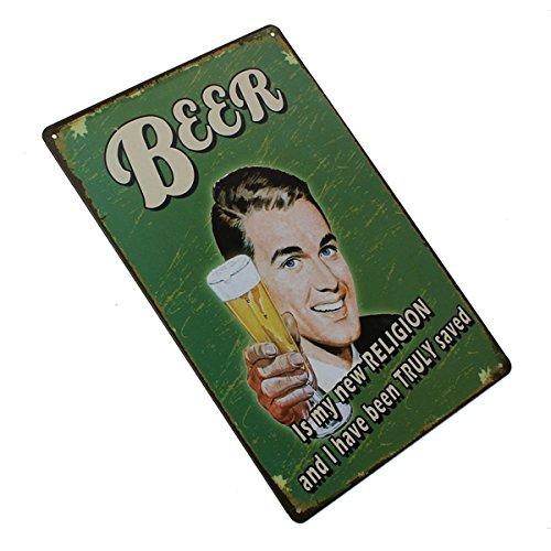 Beer Tin Sign Vintage Metal Plaque Poster Bar Pub Home Wall Decor 1