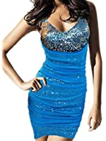 Robe de soiree Yazilind Night Club Clubwear Bling paillettes Robe moulante gaine Soiree Cocktail