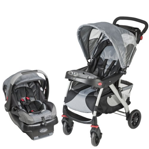 Evenflo Eurotrek Travel System, Gray Racer (Discontinued by Manufacturer) - 1