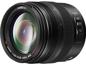 PANASONIC LUMIX G X Vario Lens, 12-35mm, F2.8 ASPH., Professional Mirrorless Micro Four Thirds, POWER Optical I.S. H-HS12035 (USA BLACK)