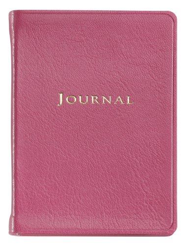 Graphic Image Small Travel Journal, Goatskin Leather, Pink (TJSMRBLGTIPNK)