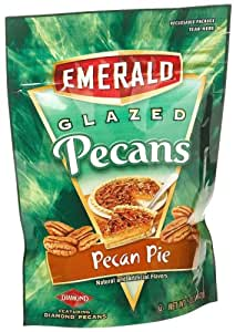 Emerald Nuts Glazed Pecans, Pecan Pie, 5-Ounce Pouches (Pack of 12)