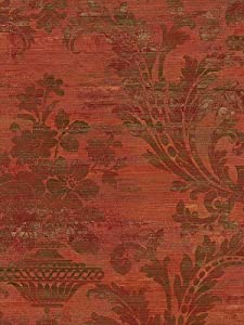 Red Antique Damask Wallpaper - Red Gold Damask Wallpaper ...