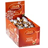Lindt Lindor Truffles Hazelnut Chocolate, 120-Count Box