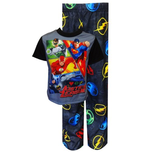 Justice League Spring Into Action Pajama Set For Boys (8) back-857543