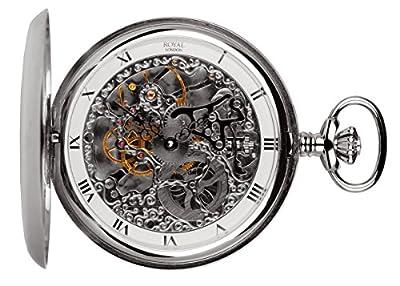 Royal London Pocket Watch 90016-01 Silver Tone Full Hunter