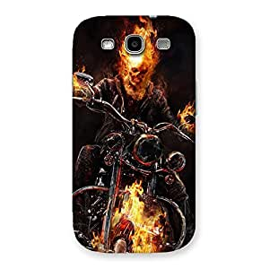 Ajay Enterprises Designer Ghost Multicolor Rider Back Case Cover for Galaxy S3