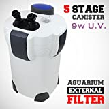 Super HW-304B 5-stage External Canister Filter w/ 9w UV Sterilizer, 525gph