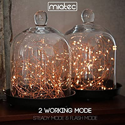 Solar String Lights, Miatec 100 LEDs Starry String Lights, Copper Wire solar Lights Ambiance Lighting for Outdoor, Gardens, Homes, Dancing, Christmas Party