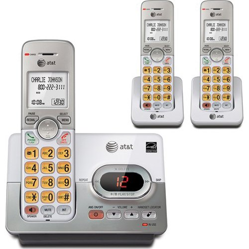 At&T El52303 Dect 6.0 Digital 3 Handset Cordless Phone W/ Digital Answering System & Caller Id