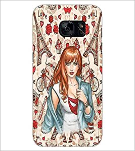 PrintDhaba Fantasy Girl D-1133 Back Case Cover for SAMSUNG GALAXY S7 (Multi-Coloured)