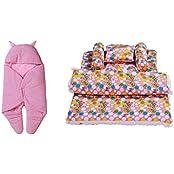 RSO BABY WRAP & BABY BEDDING SET 5 PIECE-COTTON - B01HRWIQP4