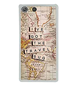 Travel Bug 2D Hard Polycarbonate Designer Back Case Cover for Sony Xperia M5 Dual :: Sony Xperia M5 E5633 E5643 E5663