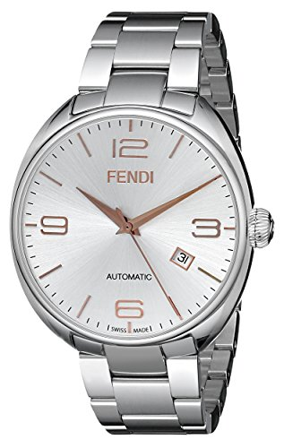 Fendi-Mens-F201016000-Fendimatic-Analog-Display-Swiss-Automatic-Silver-Watch