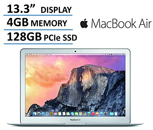 "Newest Apple MacBook Air 13-inch Laptop Computer, Intel Core i5 Processor, 4GB RAM, 128GB SSD, 13.3"" 1440 x 900 Display, 802.11ac WiFi, Bluetooth, Backlit Keyboard"