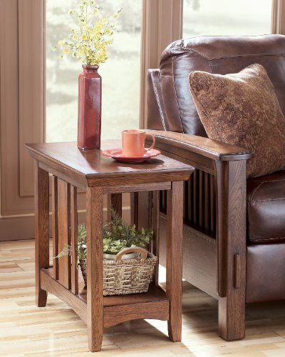 "Cheap ""Famous Collection"" Chairside End Table in DarkBrown Finish (T535-7)"