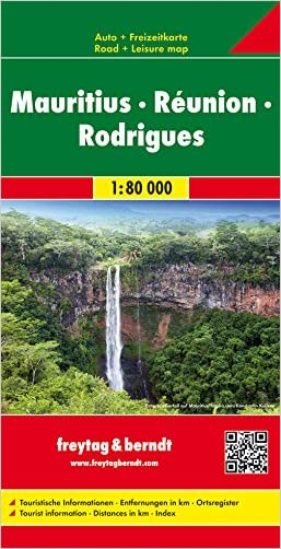Mauritius - Reunion - Rodriguez Map (English, Spanish, French, Italian and German Edition)