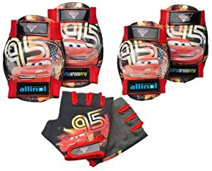 Disney Pixar's Cars the Movie Pad Set (Gloves , Knee & Elbow Pads). Age: 3 +