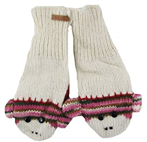 DeLux Cute Sock Monkey Wool Animal Mittens - More Colors!