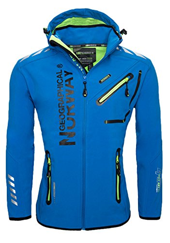 geographical-norway-herren-outdoor-softshell-funktions-jacke-blau-l