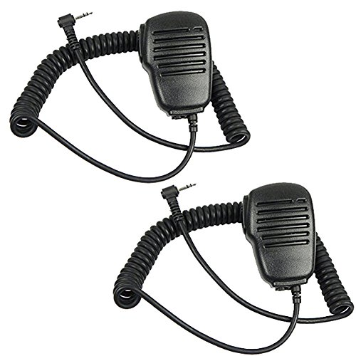 TENQ® Rainproof Shoulder Remote Speaker Mic Microphone PTT for Motorola Talkabout Walkie Talkie Two Way Radio 1pin(2 Pack) (Remote Speaker Microphone compare prices)