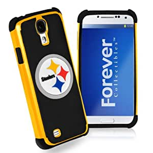 Forever Collectibles Pittsburgh Steelers Rugged Dual Hybrid Samsung Galaxy S4 Case