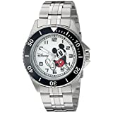 Disney Mickey Mouse Men's W002394 Mickey Mouse Silver-Tone Watch