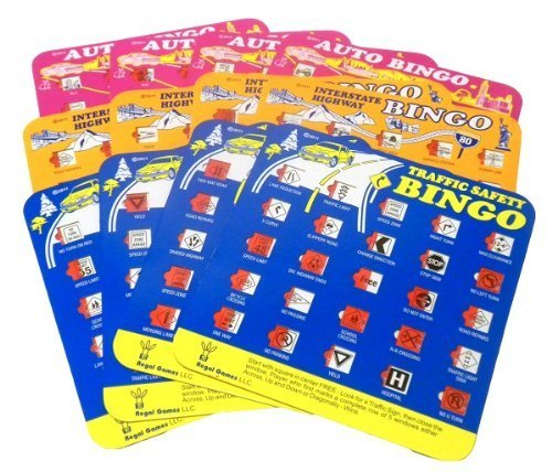 Travel Auto Bingo Roadtrip Game Pack of Four Cards (Travel Auto Bingo compare prices)