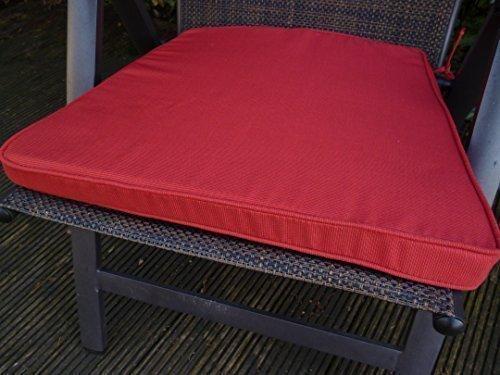 2 Stück Klubsesselkissen Maße: ca. 45x49x4cm Farbe: Chilly (Rot) mit Reißverschluß günstig bestellen