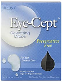 Optics Eye-Cept Rewetting Drops 20-Count 0.02 fl oz (0.5 ml) droppers (Pack of 4)