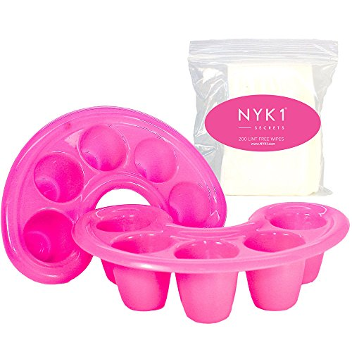 nyk1-soak-off-bowl-dishes-for-shellac-gel-acrylic-nails-with-200-lint-free-wipes