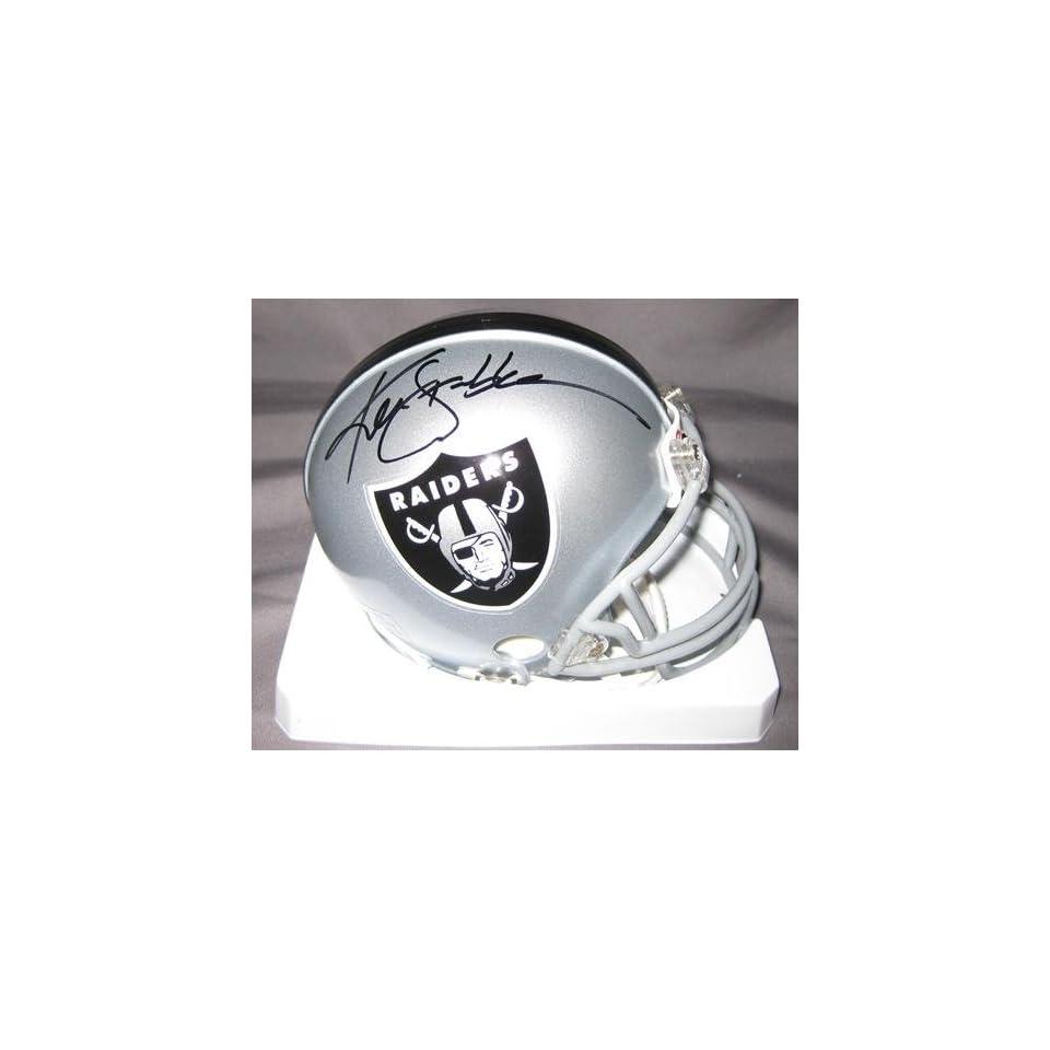 Stabler Autographed Mini Helmet   Snake   Autographed NFL Mini Helmets
