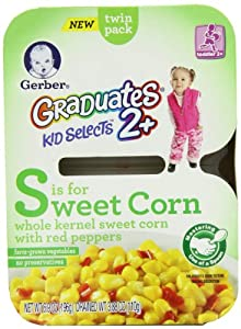 Gerber Graduates Kid Selects Sweet Corn and Peppers玉米餐SS后$21.84