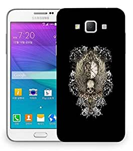 Snoogg Skull Clock Designer Protective Back Case Cover For Samsung Galaxy Grand Max G7200