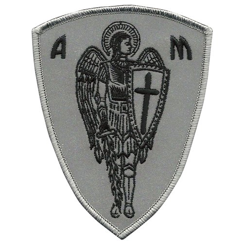 ARCHANGEL ST.MICHAEL CROSS SHIELD SAINT CHRISTIAN BIKER RIDER PROTECTION REFLECTIVE PATCH archangel s heart