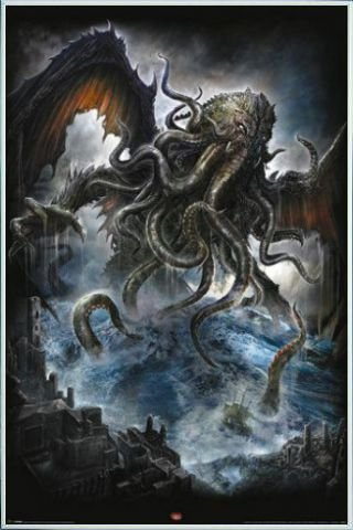 Gothic Poster Stampa e Cornice (Plastica) - Cthulhu, Spiral (91 x 61cm)
