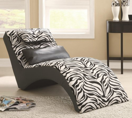Coaster Accent Seating Modern Zebra Print Furniture