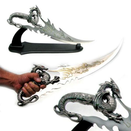 Black Dragon Dagger of Death with stand