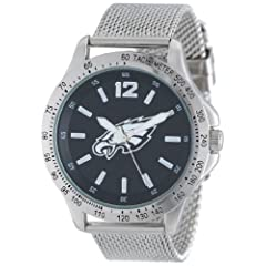 Game Time Mens NFL-CAG-PHI Cage NFL Series Philadelphia Eagles 3-Hand Analog Watch by Game Time