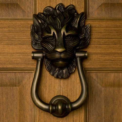 Best Buy On Large Lion S Head Door Knocker Antique